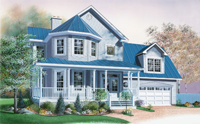 Country Style Floor Plans Plan: 5-858