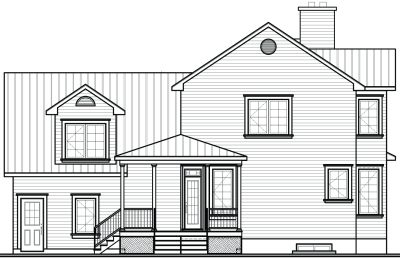 Rear Elevation Plan: 5-858
