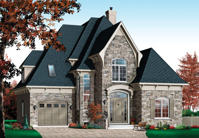 French-country Style House Plans Plan: 5-859
