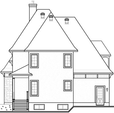 Rear Elevation Plan: 5-859