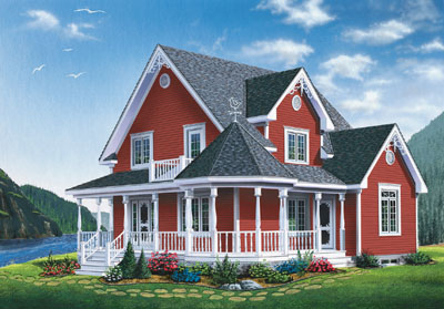 Country Style Home Design Plan: 5-860