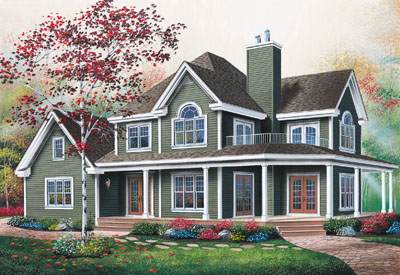 Country Style Home Design Plan: 5-861