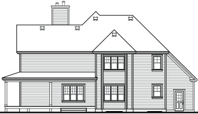 Rear Elevation Plan: 5-861