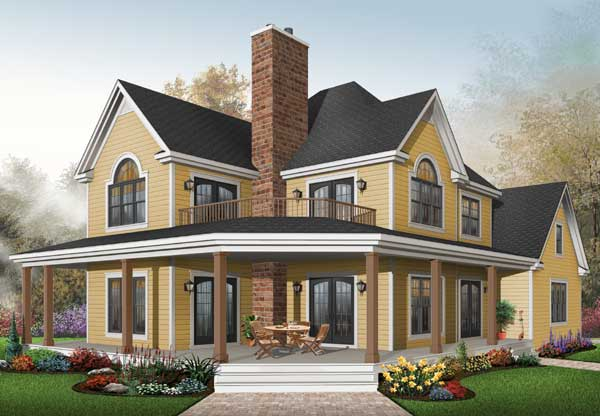Country Style Home Design Plan: 5-862
