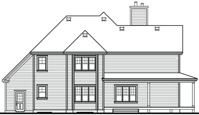 Rear Elevation Plan: 5-862
