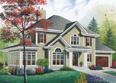 Traditional Style House Plans Plan: 5-863