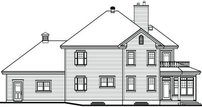 Rear Elevation Plan: 5-863