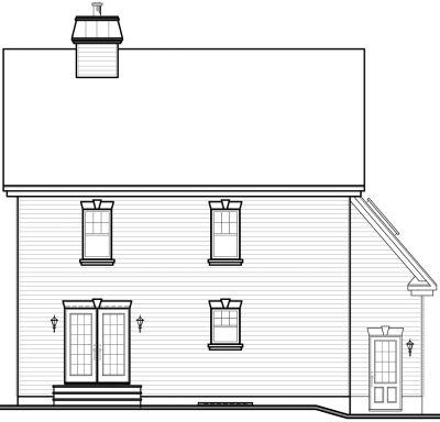 Rear Elevation Plan: 5-864