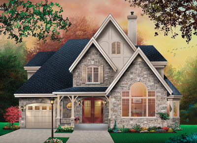 English-country Style Home Design Plan: 5-865