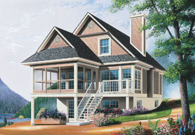Cottage Style Home Design Plan: 5-866