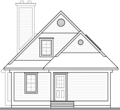 Rear Elevation Plan: 5-866