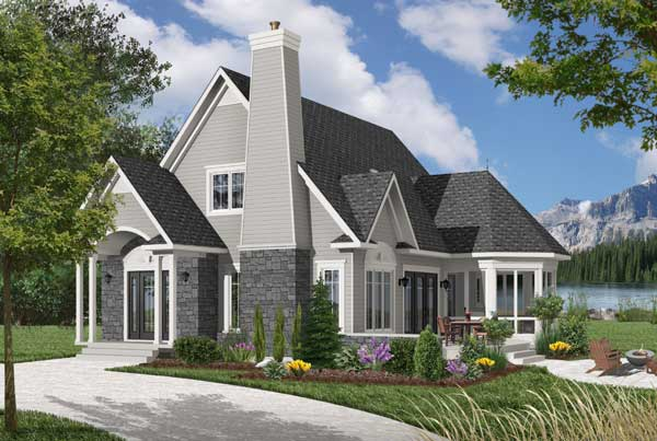 Traditional Style Home Design Plan: 5-867