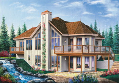 Traditional Style Home Design Plan: 5-868