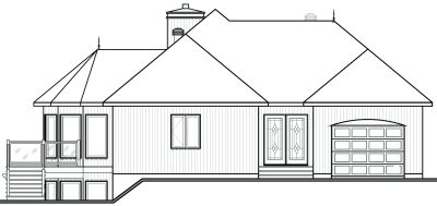 Rear Elevation Plan: 5-868