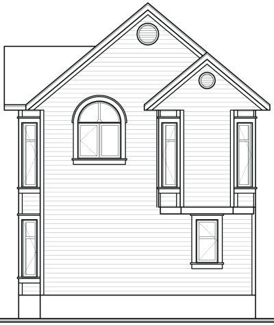 Rear Elevation Plan: 5-869