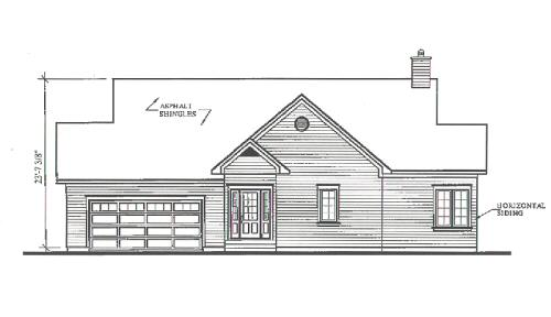 Rear Elevation Plan: 5-870