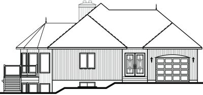 Rear Elevation Plan: 5-871