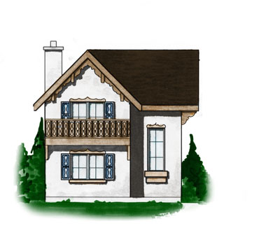 Cottage Style House Plans Plan: 5-878