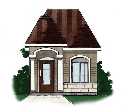 European Style House Plans Plan: 5-890