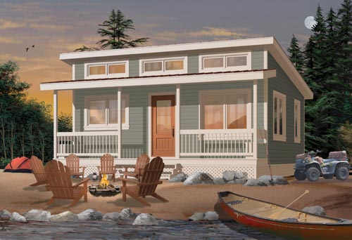 Contemporary Style Home Design Plan: 5-895