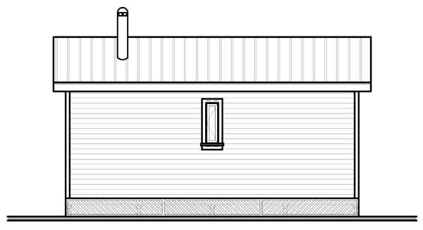 Rear Elevation Plan: 5-895