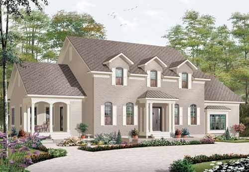 European Style House Plans Plan: 5-897