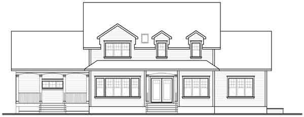 Rear Elevation Plan: 5-897