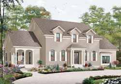 European Style House Plans Plan: 5-897