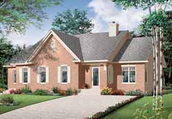 Traditional Style Home Design Plan: 5-898