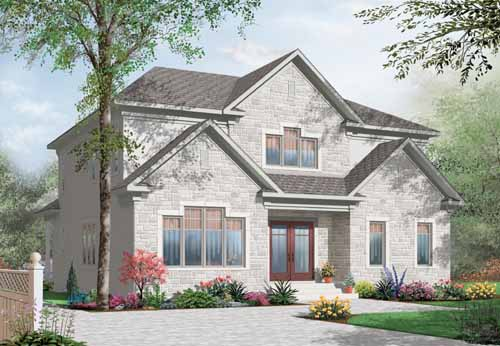 Traditional Style Home Design Plan: 5-899