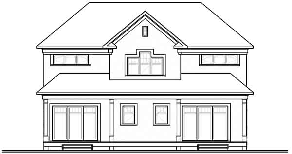 Rear Elevation Plan: 5-899