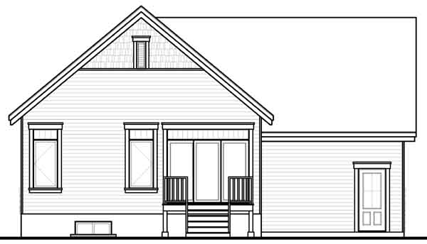 Rear Elevation Plan: 5-939