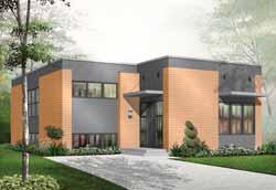 Modern Style House Plans Plan: 5-942