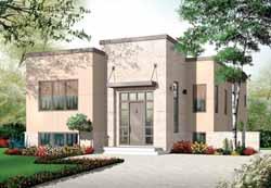 Modern Style House Plans Plan: 5-943