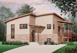 Modern Style Floor Plans Plan: 5-944