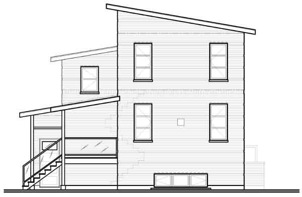 Rear Elevation Plan: 5-951