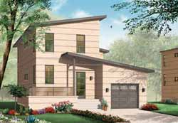 Modern Style House Plans Plan: 5-951
