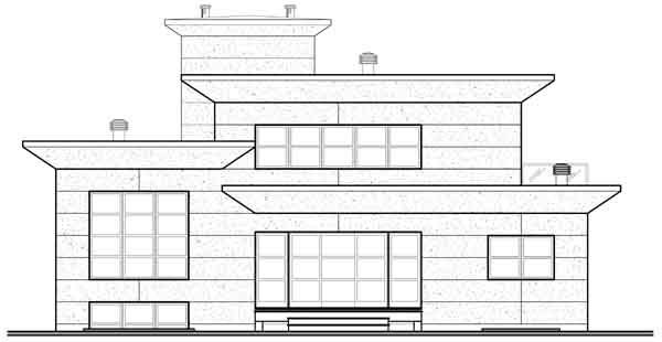 Rear Elevation Plan: 5-952