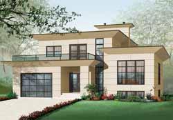 Modern Style House Plans Plan: 5-952