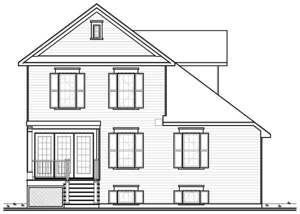 Rear Elevation Plan: 5-980