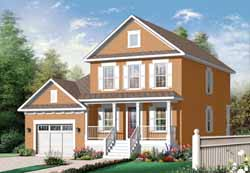 Early-American Style Floor Plans Plan: 5-980