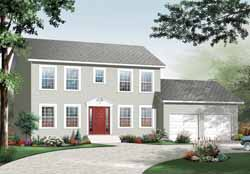 Early-American Style House Plans Plan: 5-981