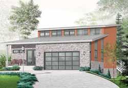 Modern Style Floor Plans Plan: 5-987