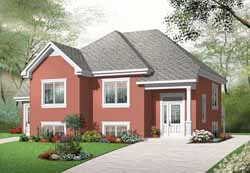 Traditional Style Home Design Plan: 5-991