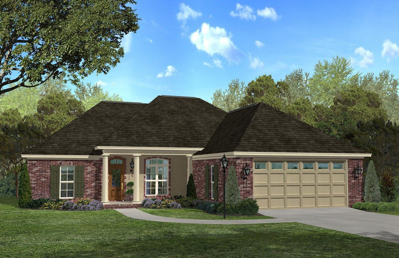 Traditional House Plan - 3 Bedrooms, 2 Bath, 1700 Sq Ft ...