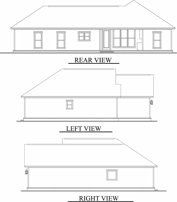 Rear Elevation Plan: 50-139