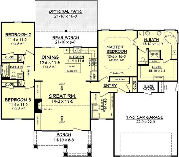 Main Floor Plan: 50-140