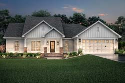 Craftsman Style Home Design Plan: 50-140
