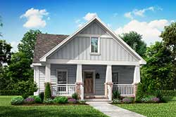 Craftsman Style Home Design Plan: 50-141