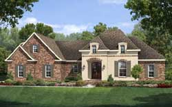 French-Country Style Home Design Plan: 50-144
